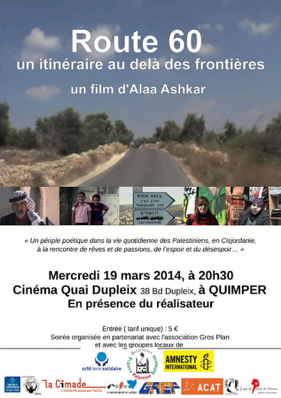 Mercredi 19 mars à 20h30, à Quimper, projection du film
